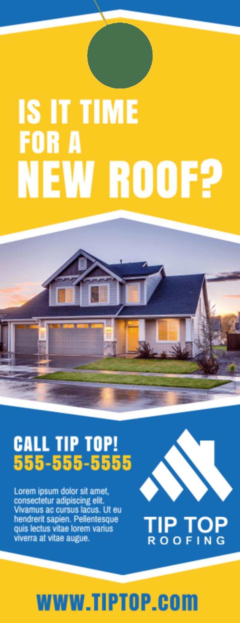 New Roof Door Hanger Template Preview 2