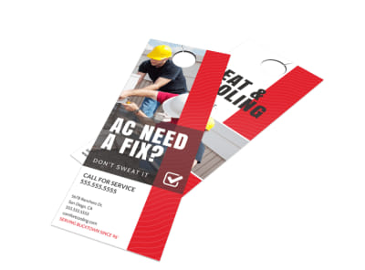 HVAC Fix Door Hanger Template preview