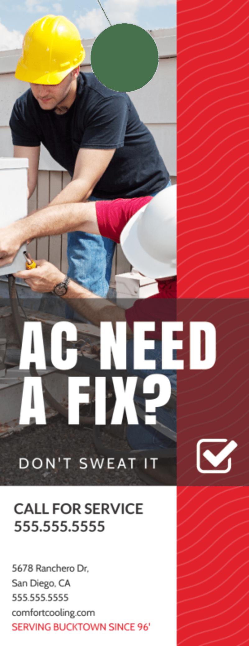 HVAC Fix Door Hanger Template Preview 2