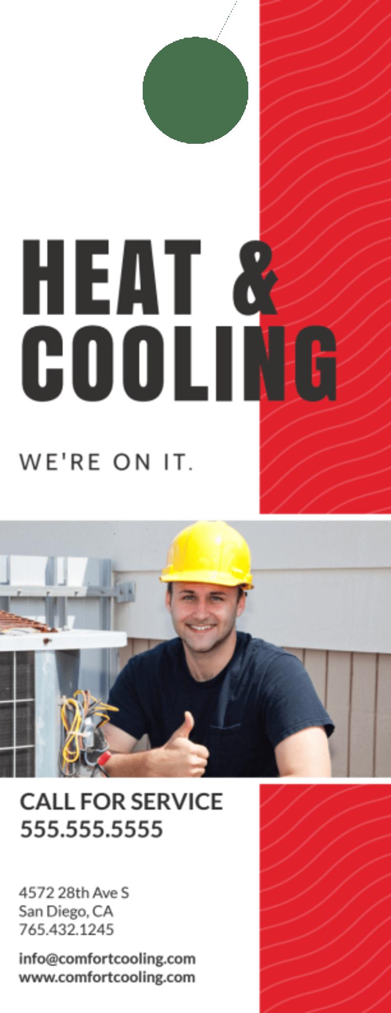 HVAC Fix Door Hanger Template Preview 3