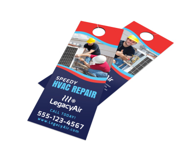 Speedy HVAC Door Hanger Template preview