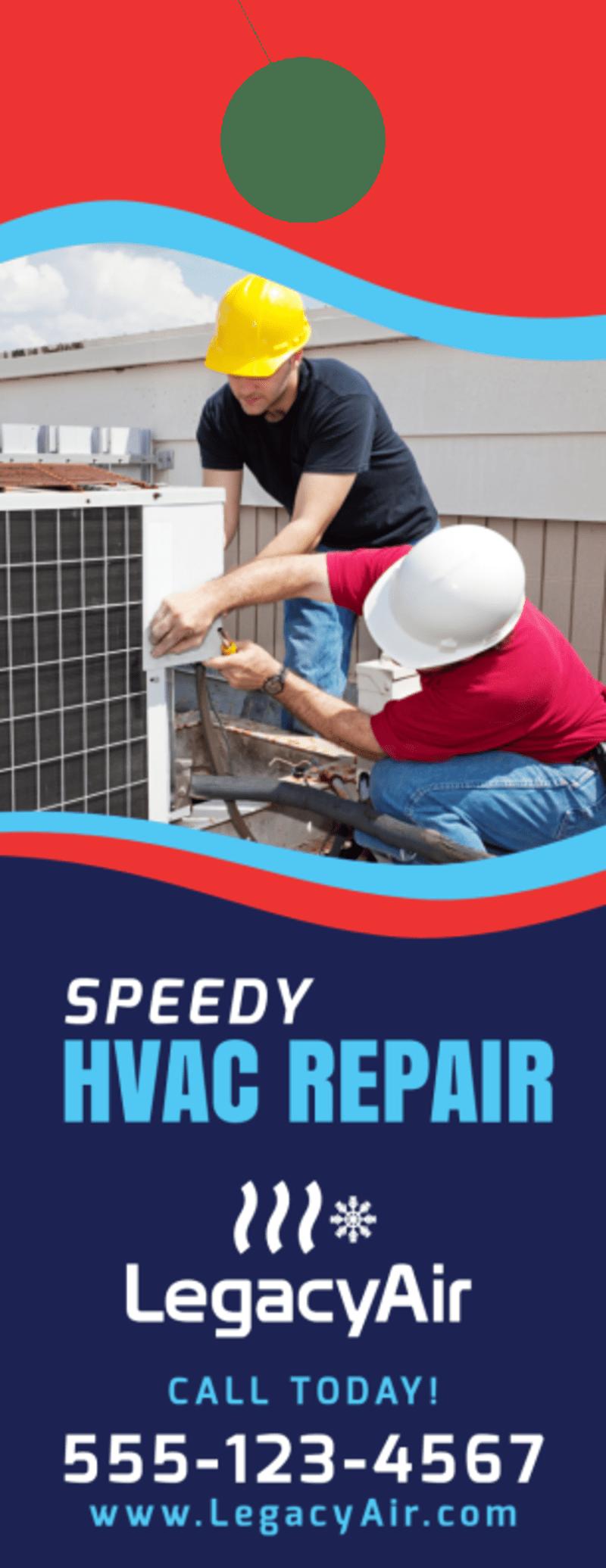 Speedy HVAC Door Hanger Template Preview 2