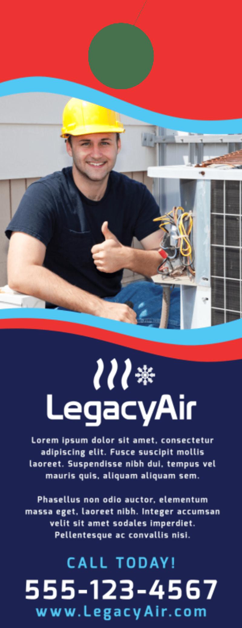 Speedy HVAC Door Hanger Template Preview 3