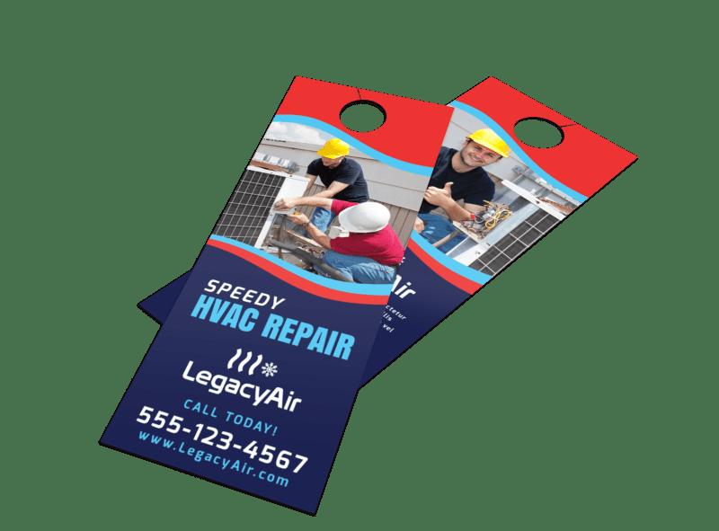 Speedy HVAC Door Hanger Template Preview 1