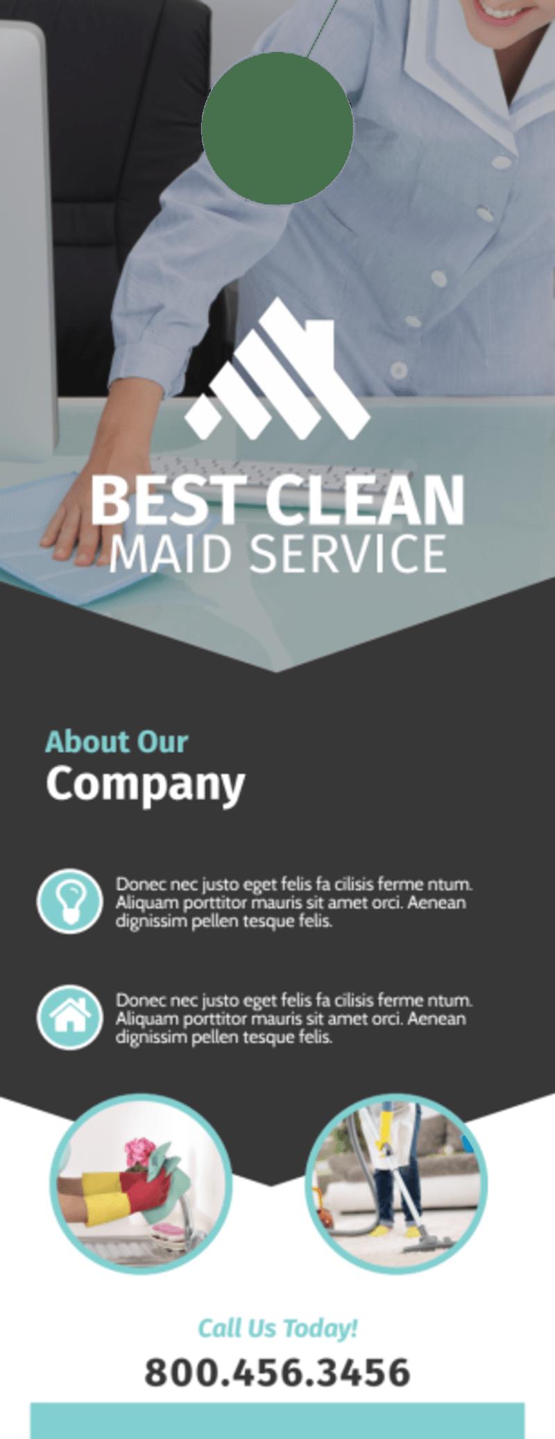 Clean Maid Service Door Hanger Template Preview 3