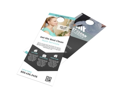 Clean Maid Service Door Hanger Template preview