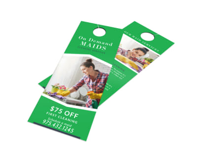 On Demand Cleaning Door Hanger Template preview