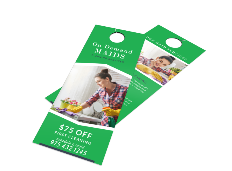 On Demand Cleaning Door Hanger Template Preview 1