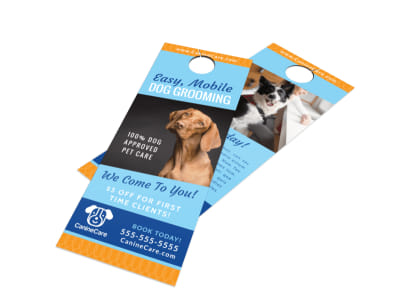 Special Dog Grooming Door Hanger Template preview