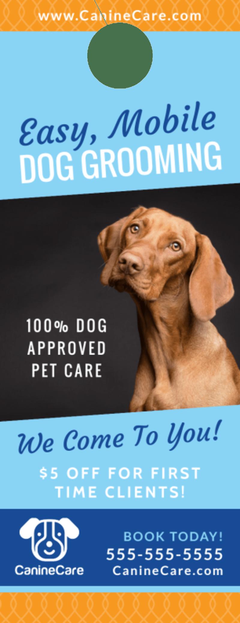 Special Dog Grooming Door Hanger Template Preview 2
