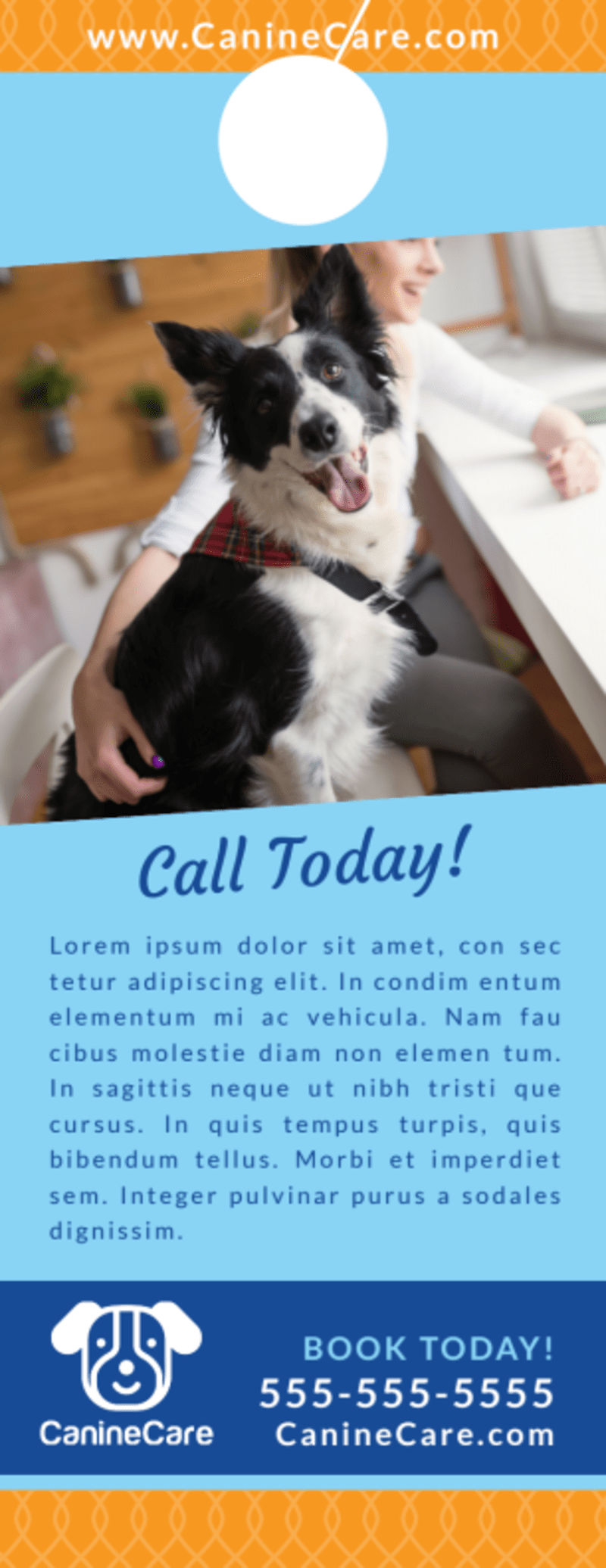 Special Dog Grooming Door Hanger Template Preview 3