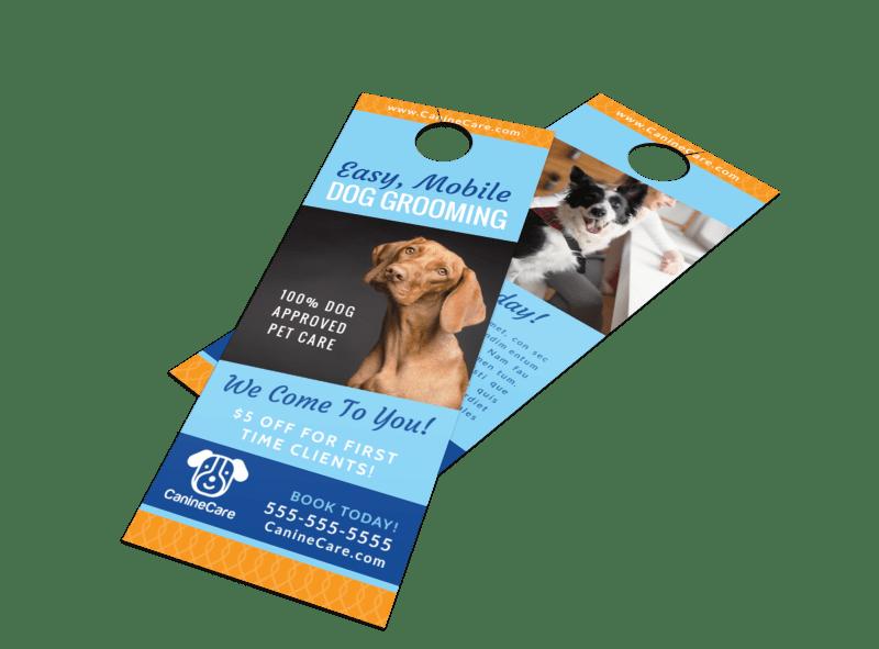 Special Dog Grooming Door Hanger Template Preview 1