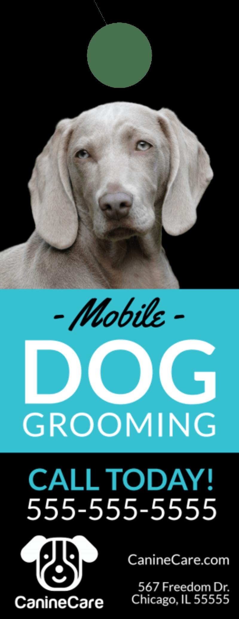 Mobile Dog Grooming Door Hanger Template Preview 2