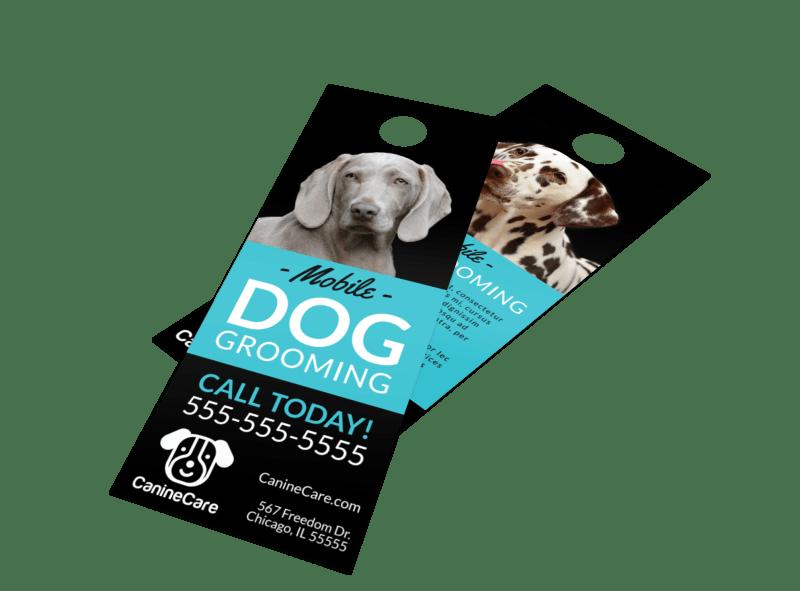 Mobile Dog Grooming Door Hanger Template Preview 1
