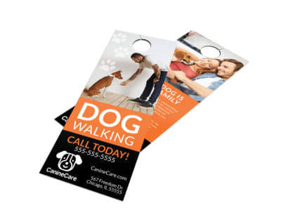 Pro Dog Walking Door Hanger Template