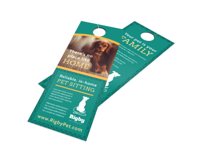 Pro Pet Sitting Door Hanger Template preview