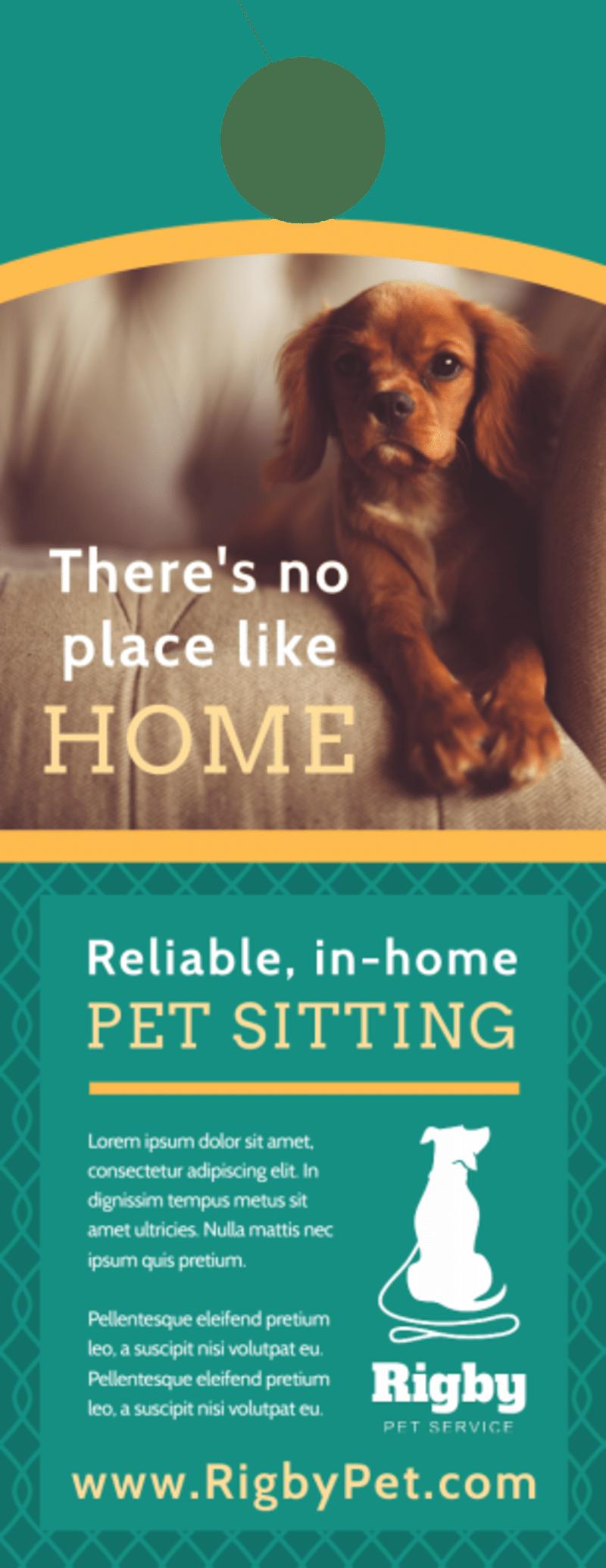 Pro Pet Sitting Door Hanger Template Preview 2