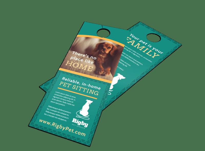 Pro Pet Sitting Door Hanger Template Preview 1