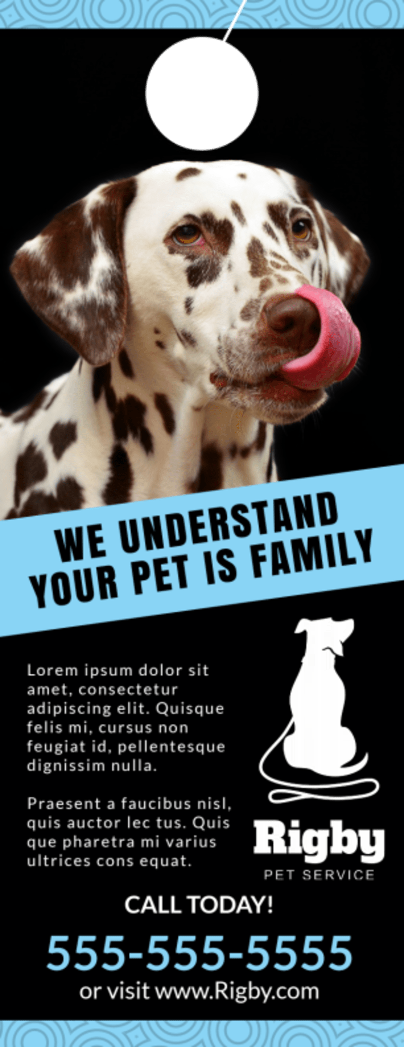 Home Pet Sitting Door Hanger Template Preview 3