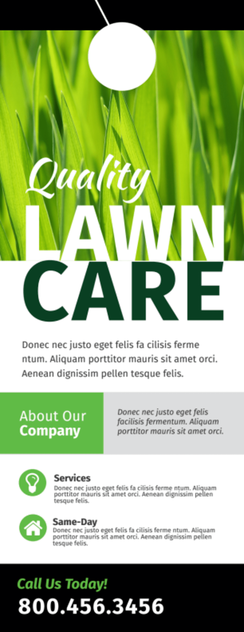Lawn Care Sale Door Hanger Template Preview 2