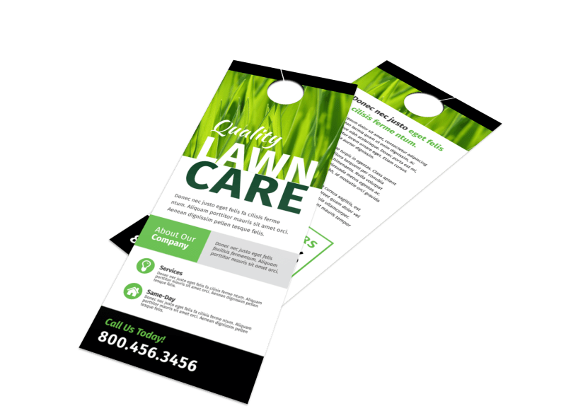 Lawn Care Sale Door Hanger Template Preview 1