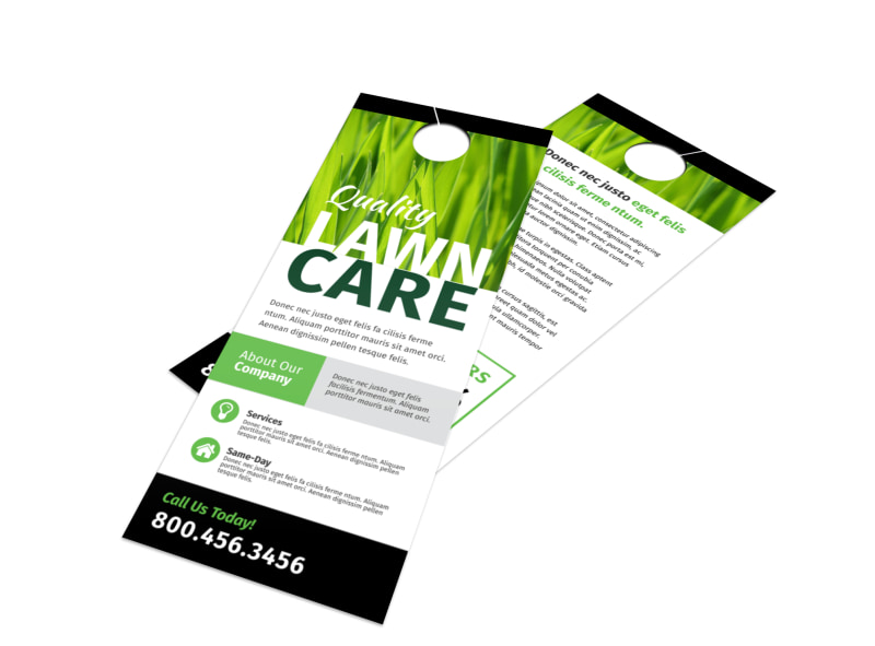 Lawn Care Sale Door Hanger Template Preview 4
