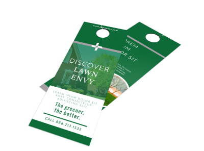 Lawn Envy Door Hanger Template preview