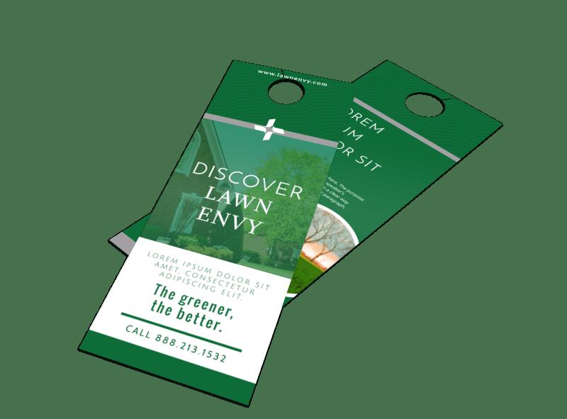 Lawn Envy Door Hanger Template Preview 1