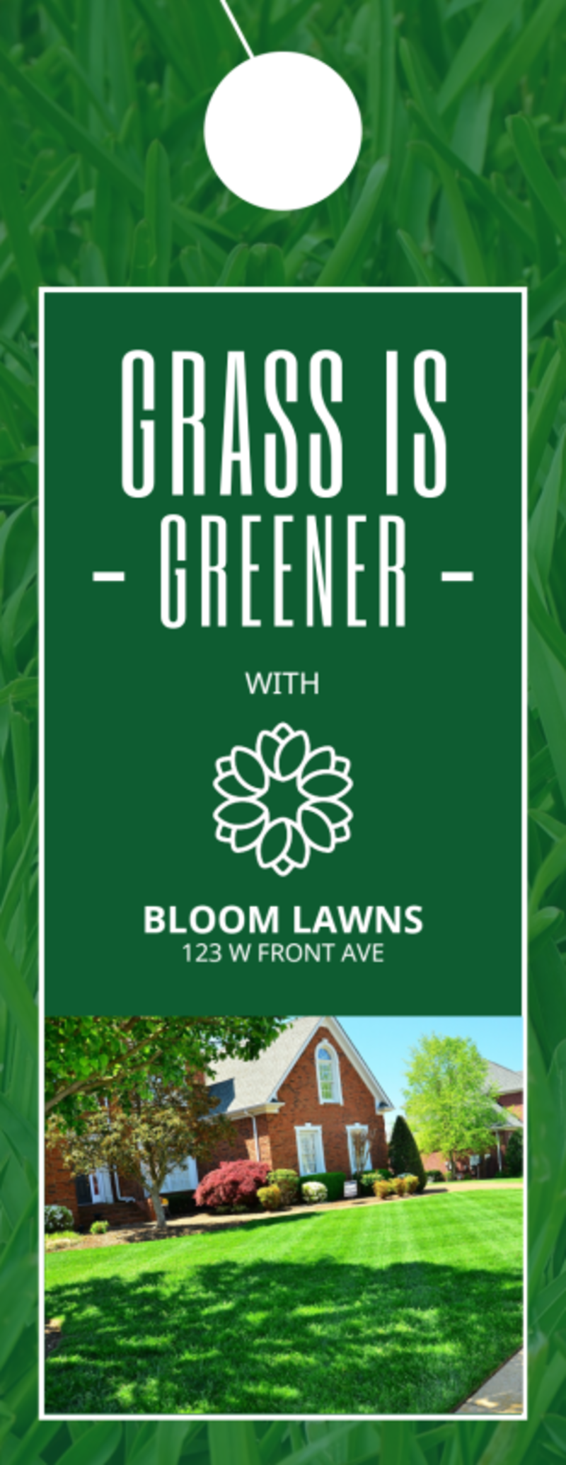 Greener Lawns Door Hanger Template Preview 2