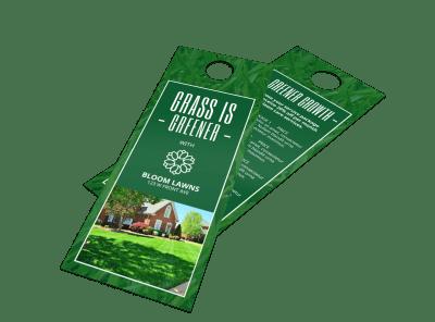 Lawn Care Door Hangers Template Preview