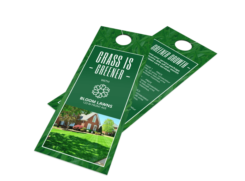 Greener Lawns Door Hanger Template Preview 1