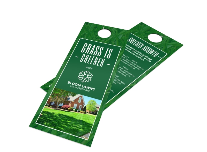 Greener Lawns Door Hanger Template Preview 4