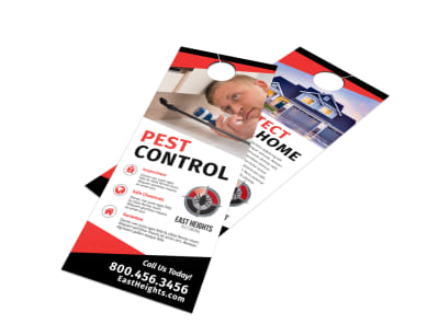Protect Pest Control Door Hanger Template preview