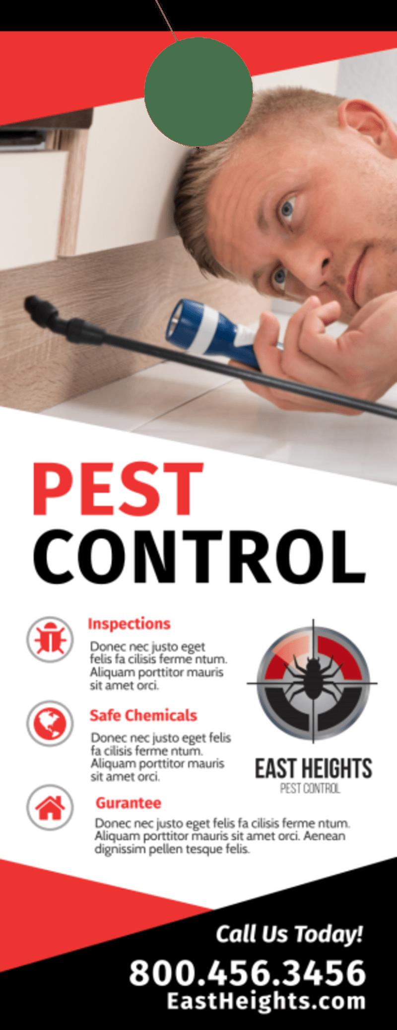 Protect Pest Control Door Hanger Template Preview 2