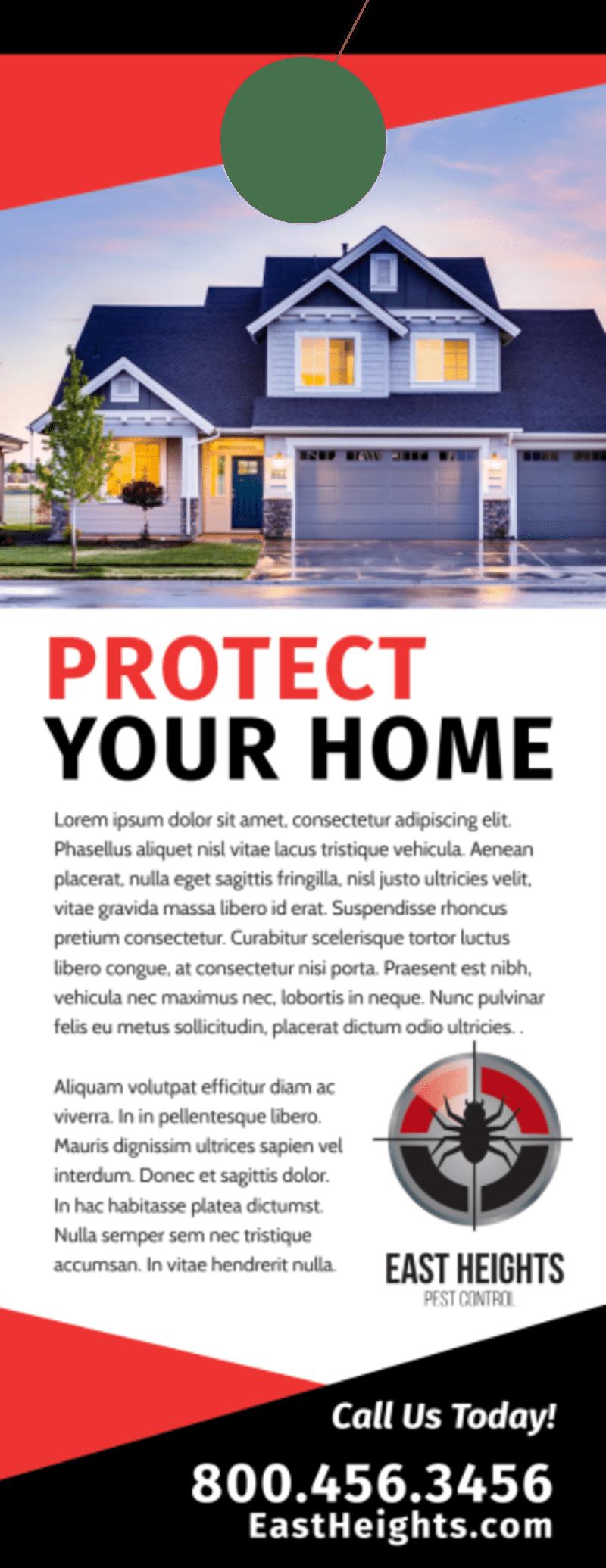Protect Pest Control Door Hanger Template Preview 3