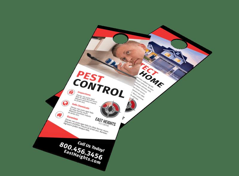 Protect Pest Control Door Hanger Template Preview 1