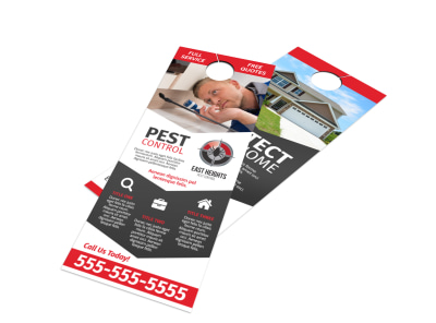 Pest Control Protection Door Hanger Template preview