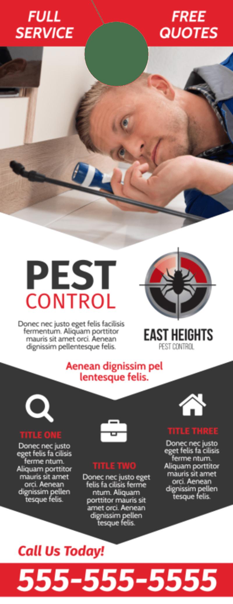 Pest Control Protection Door Hanger Template Preview 2
