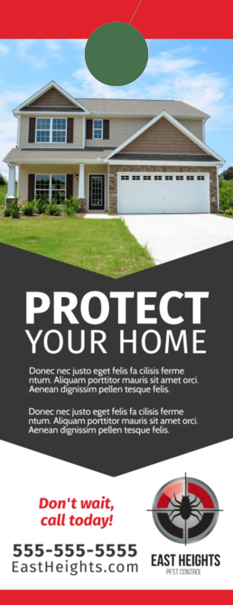 Pest Control Protection Door Hanger Template Preview 3