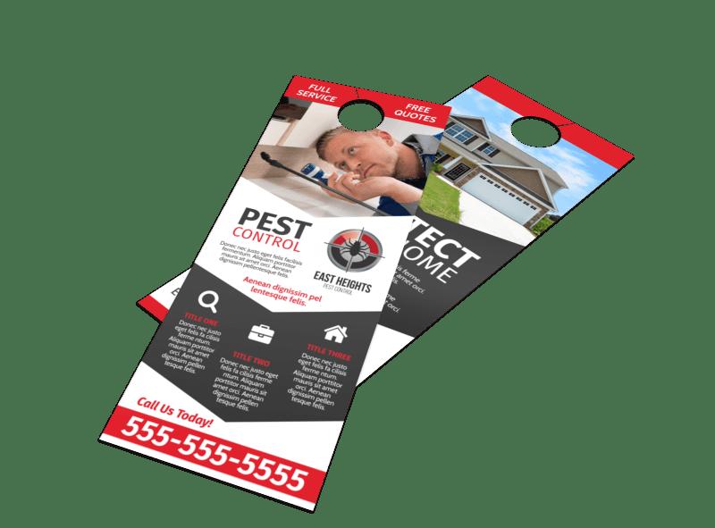 Pest Control Protection Door Hanger Template Preview 1