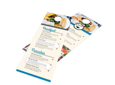 Awesome Hotel Breakfast Menu Door Hanger Template preview