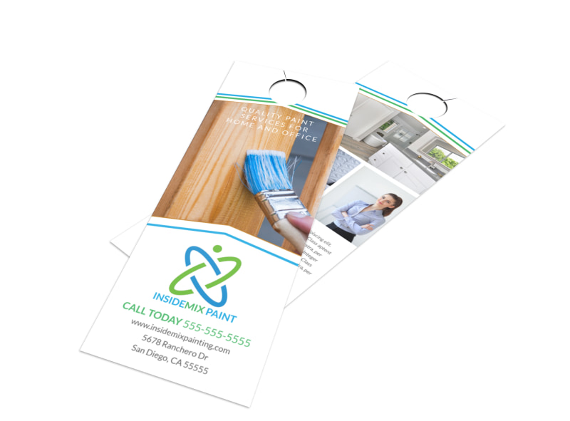 Quality Painting Door Hanger Template Preview 4