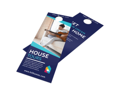 Real Estate House Tours Door Hanger Template preview