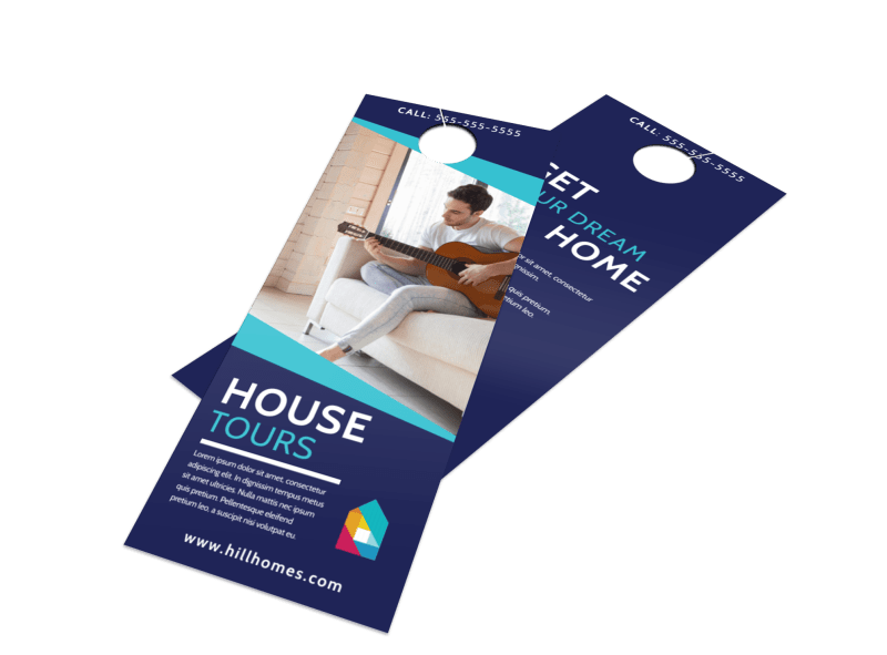 Real Estate House Tours Door Hanger Template Preview 1