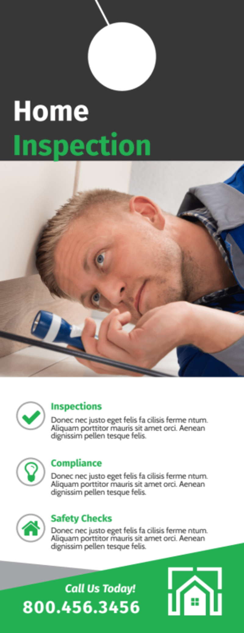 Quality Home Inspection Door Hanger Template Preview 2