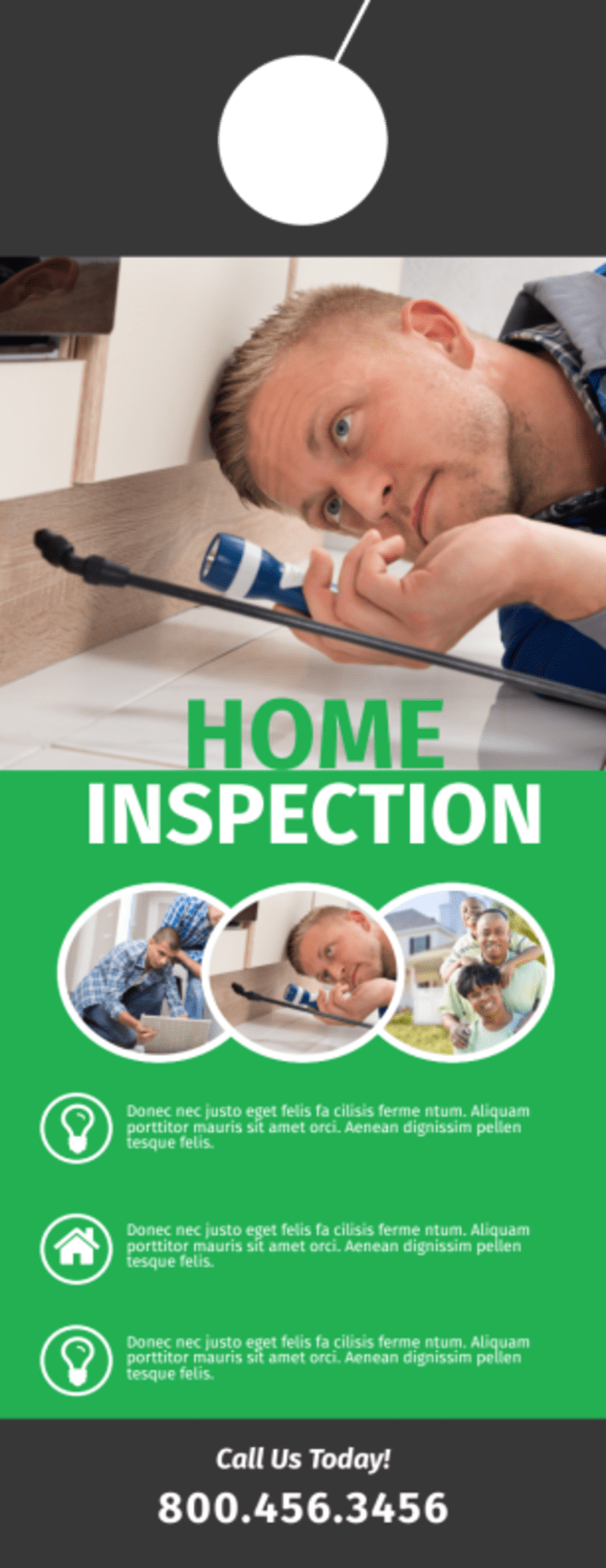 Quality Home Inspection Door Hanger Template Preview 3