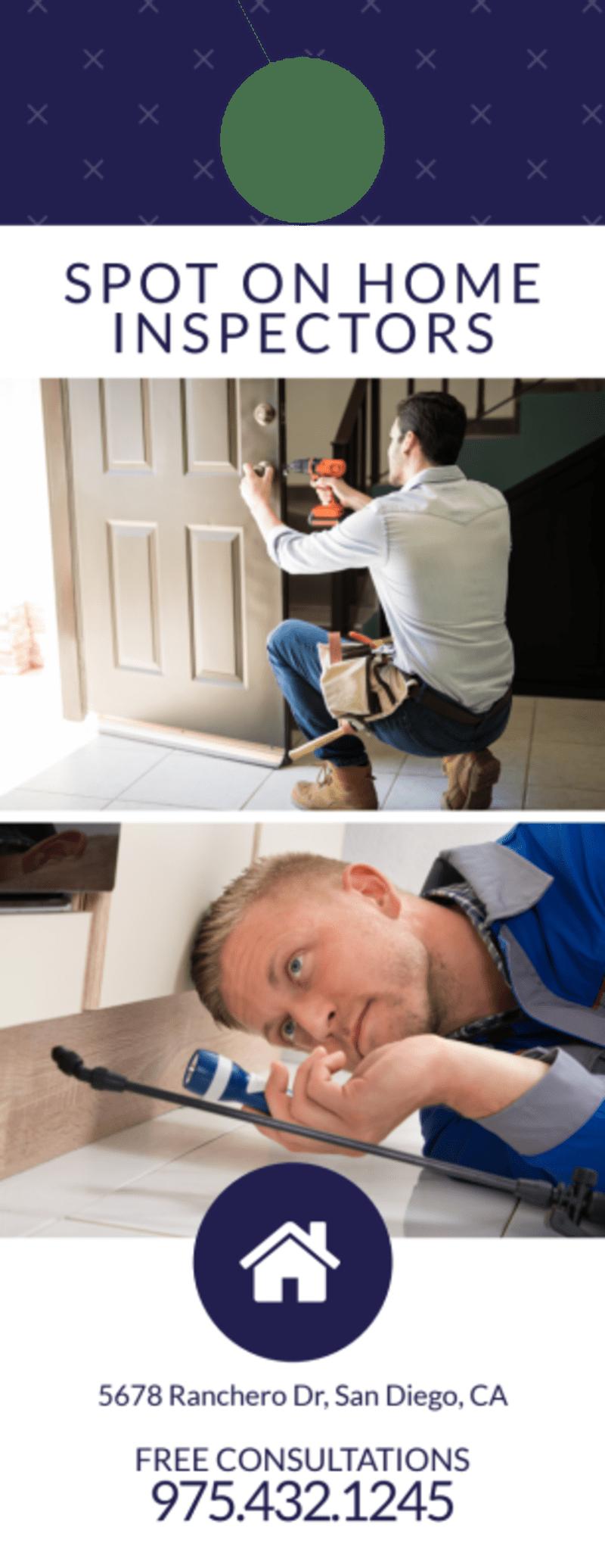 Simple Home Inspection Door Hanger Template Preview 2