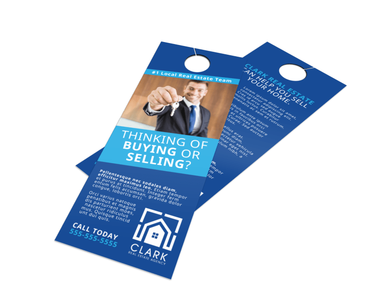 Real Estate Thinking Of Buying Door Hanger Template Preview 1