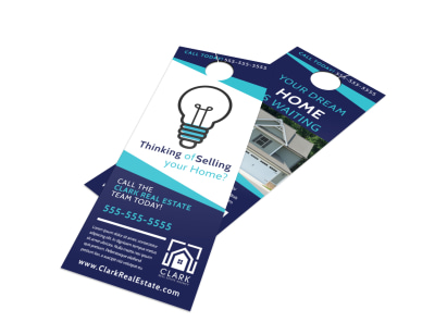 Thinking Of Selling Your Home Door Hanger Template preview