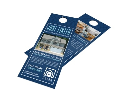 Simple Just Listed Door Hanger Template preview